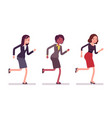 runnig businesswomen in formal wear vector image