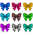 Set of textured bows vector image