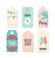 Set of vintage sale and gift tags and labels vector image