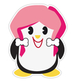 Teenage penguin vector image