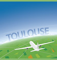 toulouse flight destination vector image