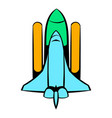 space shuttle icon icon cartoon vector image