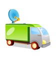 icon antenna truck vector image