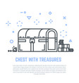 Treasure chest line vector image