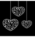 valentine black hearts vector image