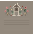 Greeting card with nesting boxes vector image