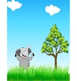elephant in the wild vector image vector image