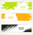 Abstract color handdraw banner set vector image