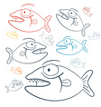 Abstract Fish vector image