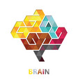 brain polygon abstract vector image