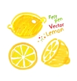 Childlike drawing of lemon vector image