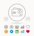 dollar wallet icon usd cash money bag sign vector image