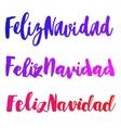 Feliz Navidad words set vector image