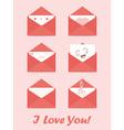 greetings letter envelopes vector image