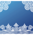 Houses pattern background vector image