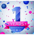 One years anniversary celebration on grey vector image