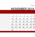 Simple 2014 calendar November vector image