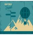 Travel design Tourism icon vintage vector image