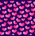 valentines hearts banner pattern 9 vector image