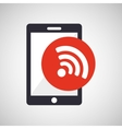 tablet hand hold with wifi icon vector image