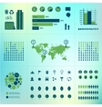 set of eco infographics World map charts vector image vector image