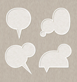 Bubble for speech set Wooden style vector image vector image