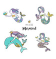 under the sea - little mermaid vector image vector image