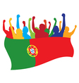 Portugal fans vector image vector image