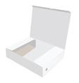 White opened box vector image