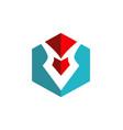 abstract pen shape write logo vector image
