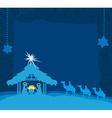 birth of Jesus in Bethlehem card vector image