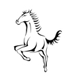 Black silhouette of a horse vector image
