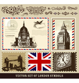 set of london symbols vector image