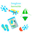 songkran new year in thailand vector image