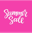 Summer sale - hand drawn brush lettering vector image