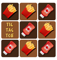 Tic-Tac-Toe of Ketchup and Fried Potatoes vector image