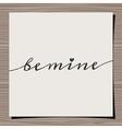 Vintage typographic Valentines Day design card vector image