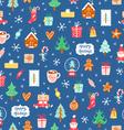 Winter holidays symbols repeat pattern vector image