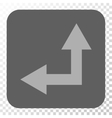 Bifurcation Arrow Left Up Rounded Square Button vector image