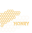 geometric pattern with honeycomb vector image