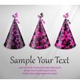 Goth party hats on grey vector image vector image