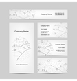 Autumn field sketch business cards design vector image vector image