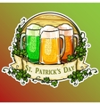 St Patricks Day label vector image