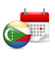 Icon of national day in comoros vector image