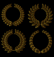 golden laurels set vector image vector image
