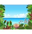 forest beach background vector image vector image
