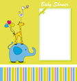 Fun animal card vector image