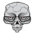alien skull vector image