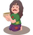 beggar man cartoon for you design vector image