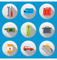 Fuel pump gas station icons vector image